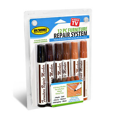 Total Furniture Repair System JB5658 Jobar IdeaWorks Marker Filler Touch Up 12pc