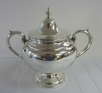 Gorham Sterling Silver Puritan Sugar Bowl with Lid -- Free Shipping *