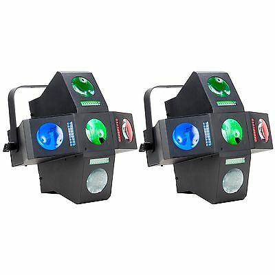 American DJ Monster Fun RGBWA LED Moonfloower and Strobe Light Effect (2 Pack)