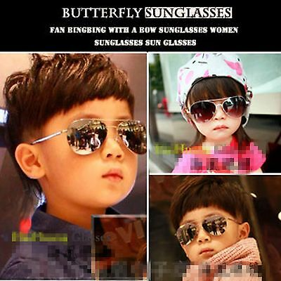 Handsome Cool Children Boys Baby girls Kids Mercury Aviator eye sunglasses prop