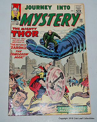 Thor Journey into Mystery 101 Marvel Comic book 1963 Fine 2nd Avengers X-over!
