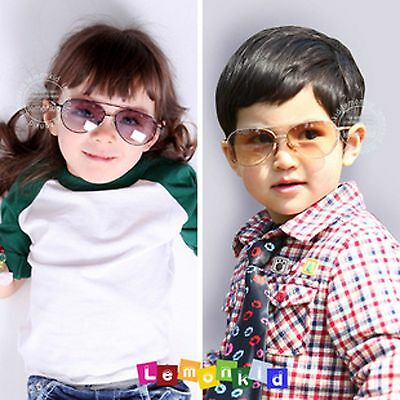 Cool Children Boys Girls Kids Fashion Aviator sun UV protection sunglasses