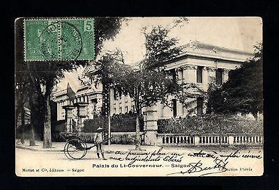 13509-INDOCHINA-OLD POSTCARD SAIGON to HANOI.1905.Indochine.French COLONIES