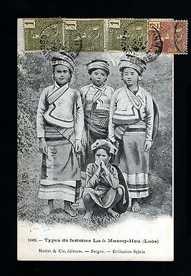 13512-LAOS-INDOCHINA-MILITARY POSTCARD TAY-NIN.1903.Indochine.French COLONIES.