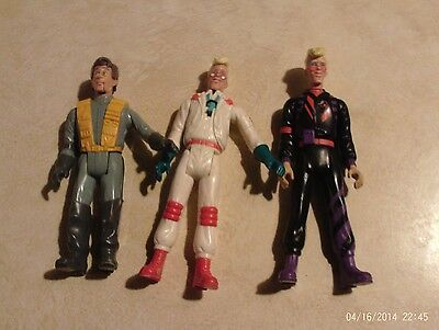 3 Ghostbusters Figures Lot Columbia Pictures 1984