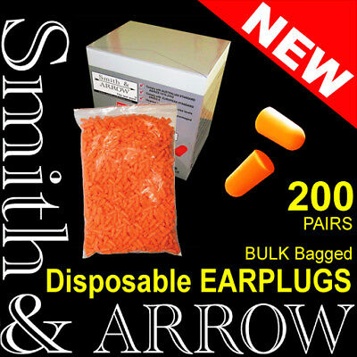 200 Pairs Ear Plugs Foam Safety Bulk Refill Disposable Uncorded Noise Protection