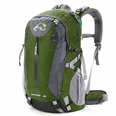 50L Windtour Rucksack Mountaineering Backpack Outdoor Travel Hike Bag Green