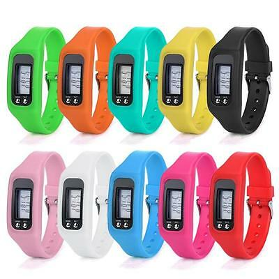 Digital LCD Pedometer Run Step Walking Distance Calorie Counter Bracelet Watches