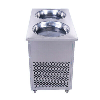 Stainless Steel Multi-purpose Double Pot Fried Ice Machine To Make Ice Cream