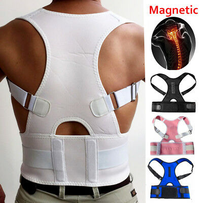 New Unisex Therapy Posture Corrector Back Shoulder Support Brace Straightener HT