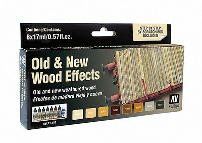 Vallejo BNIB Model Air Set - Old & New Wood Effects VAL71187
