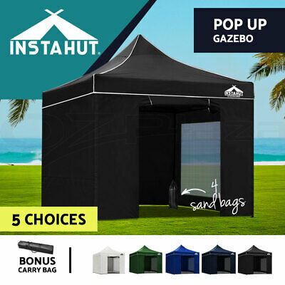 Instahut 3x3m Pop Up Outdoor Gazebo Folding Tent Party Marquee Canopy Camping