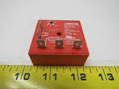 NCC Q3T-00300-321 National Controls Time Delay Relay 120V 15 - 300 Seconds