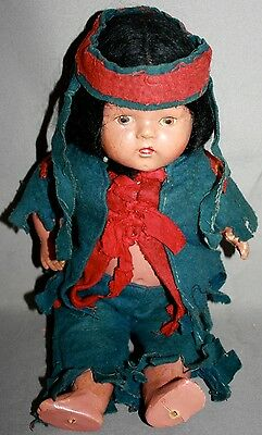 "Vintage ""Reliable Doll"" Native First Nations Composition Doll-Made In Canada"