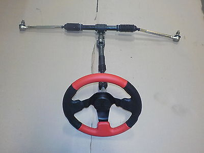 Steering Kit Go Cart/ Buggy  Rack With Tie Rods/ Steering Wheel And Shaft New