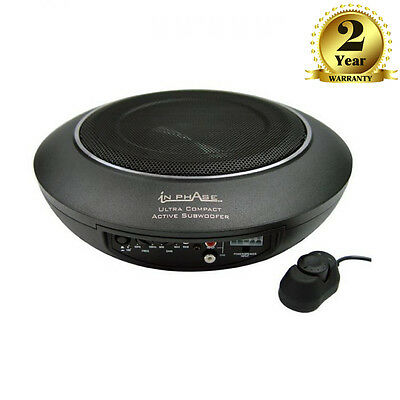 In Phase USW10 Ultra Compact Active Underseat Subwoofer 300W