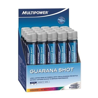 (53,20 EUR/L) Multipower Guarana Ampullen 20x25ml Energy Booster Shots NEU