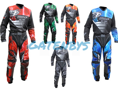 Wulfsport Complete Kit Jersey + Pants All Sizes Motocross Enduro Trousers Shirt