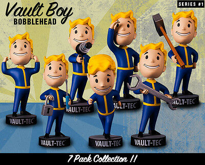 """Official 5"""" Fallout 4 Vault Boy Tech 111 Bobbleheads Action Figure Great Gift"""