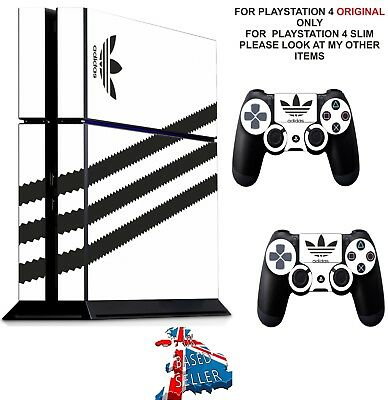 ADIDAS WHITE ps4 Skin Decal Stickers Playstation 4 Console  Controller