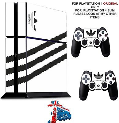 ADIDAS WHITE ps4 Skins Decals Stickers Playstation 4 Console  Controller