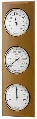 Weather Station Beech Real Wood Solid Tfa 20.1028.05 Barometer Air Tip