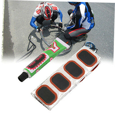 48pcs Bike Tire Bicycle Kit Patches Repair Glue Tyre Tube Rubber Puncture FJAU