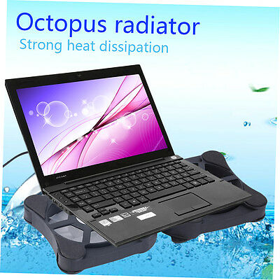 Mini USB Port Cooling Pad With 2 Fans Cooler for 7-15inch Notebook Laptop FJAU