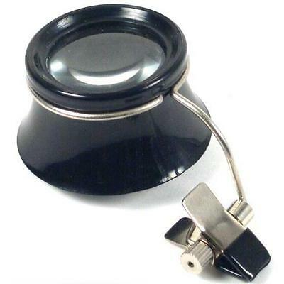 5X Clip On Eye Loupe Magnifier Magnifying Clockmakers Optical Tool Jewelers