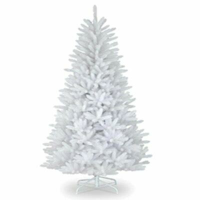 6ft Christmas Tree WHITE 550 Pines Artificial Tree with Metal Stand