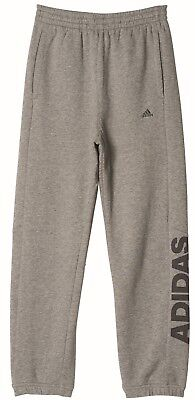 adidas Kinder Sport Freizeithose Athletics Heather Lineage Pant grau schwarz