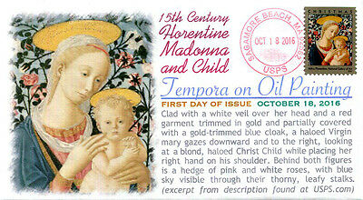COVERSCAPE computer generated 15th Century Florentine Madonna and Child U/O fdc