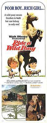 RIDE A WILD PONY original 14x36 1976 DISNEY movie poster MICHAEL CRAIG/HORSES