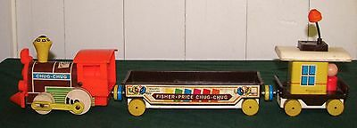 1964 Fisher Price Complete Chug-Chug Pull Train With Magnetic Couplers No. 168