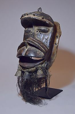 Reduced! Dan Gere / We peoples African Mask on custom stand. African Tribal Art