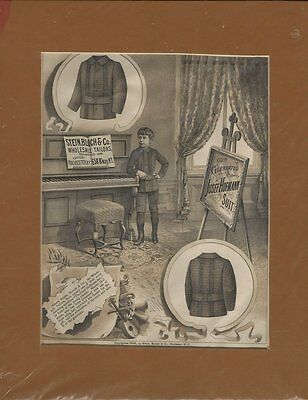 1888 Large Engraved Advertisement - Stein,Bloch & Co. Tailors - Rochester NY
