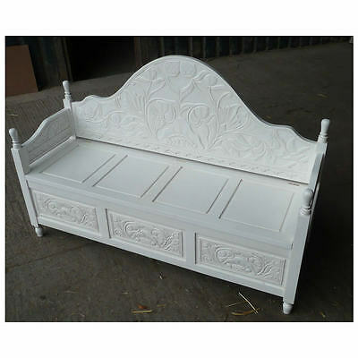 White Monks Bench - Large 148cm Wide - New - In Stock
