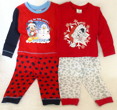 Kids Disney Baby Christmas Pyjama Sets 6 months to 24 months NWTs