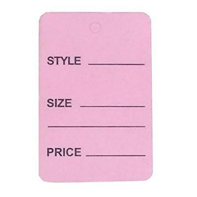 1000pcs Pink Color One Part Unstrung Perforated Price Coupon Tag Clothing New