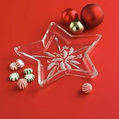 Lenox Etched Holly Berry, Star Shaped Candy Dish