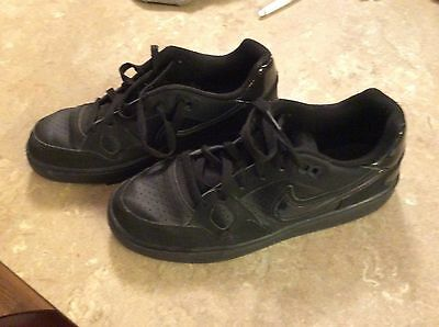 Nike Son Of Force Trainers shoes Youth US-7Y 615153-020 LU1 Black Flat