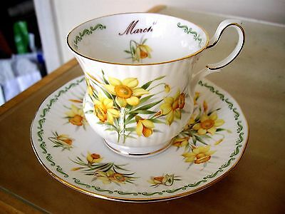 Queens Rosina China Special Flowers Daffodil March Cup And Saucer