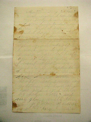 Martinsburg Virginia Civil War Letter Young Soldier Died Of Wounds