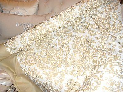 """Expensive Rare Fortuny Grove Bros 60"""" 30Yards Creamy White Damask Design New"""