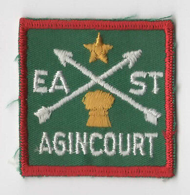 Scouts Canada East Agincourt Ontario - District Badge Patch Woven Back