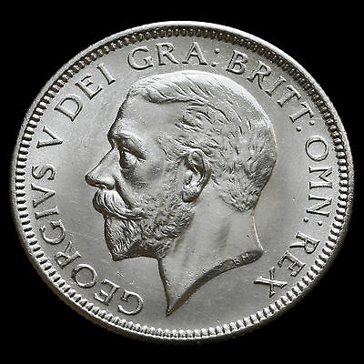 1927 George V Silver Shilling, Fourth Coinage, Scarce, A/UNC