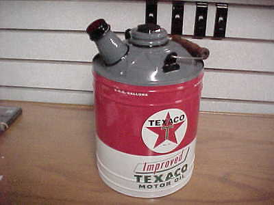 TEXACO OIL GAS CAN Display, SEALED CANNOT BE USED $27.95 FREE SHIPPING