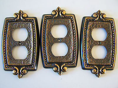Lot Of 3 Vintage Amerock Bonaventure Outlet Plate Covers
