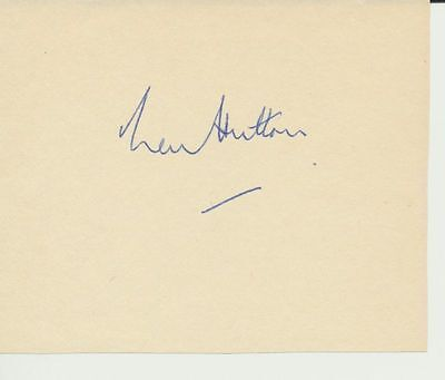 Len Hutton Yorkshire and England signed page