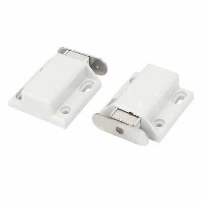 Furniture Cabinet Door Push Open Magnetic Catch Latch White